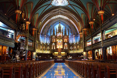 Notre-Dame Basilica in Montreal Stock Image