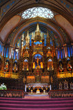 Notre Dame Basilica in Montreal. Beautiful interior of Montreal's Notre Dame Basilica Stock Photography
