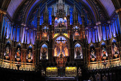 Notre-Dame Basilica of Montreal Royalty Free Stock Photo