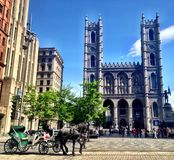 Notre Dame Basilica. In Montreal Canada stock photography