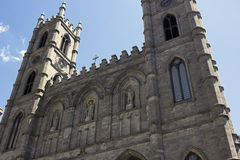 Notre-Dame Basilica of  Montreal Stock Images