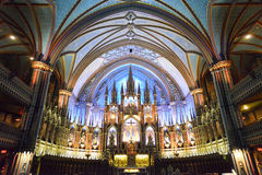 Notre Dame Basilica - Montreal, Canada Stock Images