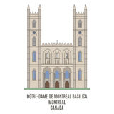 Notre-Dame Basilica,  Montreal, Canada Stock Images