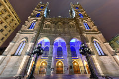 Notre-Dame Basilica - Montreal, Canada Stock Photography
