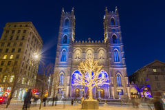 Notre Dame Basilica in Montreal Royalty Free Stock Photos