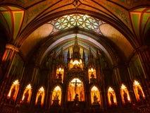 Notre Dame Basilica Montreal fotografering för bildbyråer