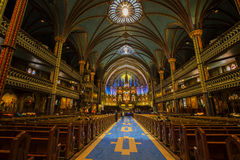 Notre Dame Basilica in Montreal Stock Photo