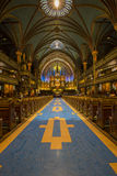 Notre Dame Basilica in Montreal Stock Images