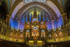 Notre Dame Basilica in Montreal Stock Photos