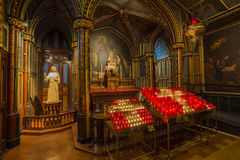 Notre Dame Basilica in Montreal Stock Image