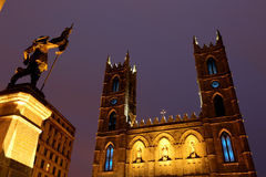 Notre-Dame Basilica (Montreal) Stock Image