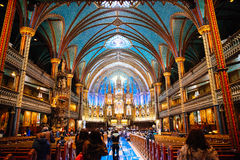 Notre-dame basilica. Notre dame in Montreal QC Royalty Free Stock Photo