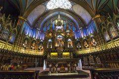 Notre Dame Basilica, Montreal, Quebec, Canada Fotografie Stock Libere da Diritti