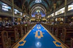 Notre Dame Basilica, Montreal, Quebec, Canada Fotografia Stock Libera da Diritti