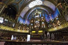 Notre Dame Basilica, Montreal, Quebec, Canada Immagine Stock Libera da Diritti