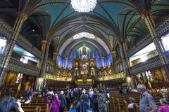 Notre Dame Basilica, Montreal, Quebec, Kanada Arkivfoto