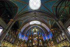 Notre Dame Basilica, Montreal, Quebec, Kanada Arkivbild