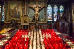 Notre Dame Basilica, Montreal, Quebec, Kanada Arkivfoton