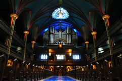 Notre Dame Basilica pipe organ Royalty Free Stock Photography