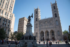 Notre-Dame-basiliek, Montreal, Quebec, Canada Royalty-vrije Stock Afbeelding