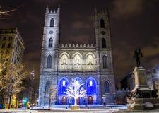 Notre-Dame-Basiliek van Montréal, Quebec, Canada Stock Afbeelding