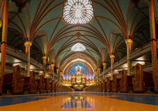 A view of the Notre-Dame Basilica in Montreal,Quebec,Canada Royalty Free Stock Image