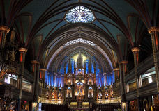 Notre-Dame bazylika, Montreal Fotografia Stock