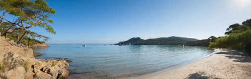 Notre Dame beach in Porquerolles island Royalty Free Stock Images