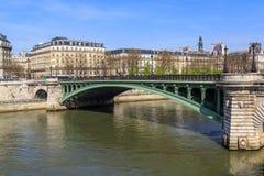 Notre Dame Bridge over the Seine Stock Photo