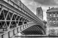 Notre Dame Bridge, Parijs, Frankrijk, Europa Stock Foto's