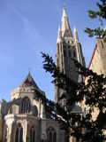 Notre Dame Brugge. Royalty-vrije Stock Foto's