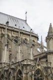 Notre Dame Buttresses Royaltyfria Foton