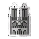 Notre dame catedral monument Stock Photography
