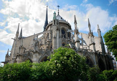 Notre Dame Cathedral. View from backyard Stock Photography