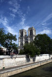 Notre Dame Cathedral. On a beautiful summer day in Paris, France Stock Image