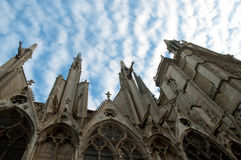 Notre Dame Cathedral, architectural details , Paris . Royalty Free Stock Photos