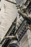 Notre Dame Cathedral, arkitektoniska detaljer, Paris Arkivbild