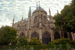 Notre Dame Cathedral, arkitektoniska detaljer, Paris Royaltyfri Foto