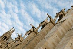 Notre Dame Cathedral, arkitektoniska detaljer, Paris Royaltyfri Bild