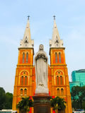 Notre Dame Cathedral Basilica in Ho Chi Minh City, Vietnam. Stock Photos