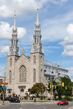 Notre Dame Cathedral Basilica in Ottawa Royalty Free Stock Image