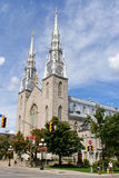 Notre Dame Cathedral Basilica in Ottawa Stock Photos