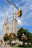 Notre Dame Cathedral Basilica in Ottawa Stock Photo