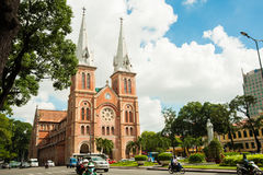 Notre-Dame Cathedral Basilica of Saigon Stock Images