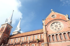 Notre-Dame Cathedral Basilica of Saigon. On a sunny day Stock Photo