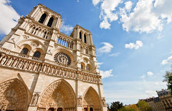 Notre Dame Cathedral with blue sky 4 Royalty Free Stock Photo