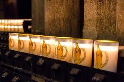 Notre Dame Cathedral Candles foto de archivo