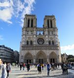 Notre-Dame Cathedral church in France Paris royalty free stock image