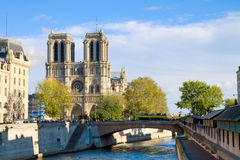 Notre Dame cathedral church, Paris, France Royalty Free Stock Photos