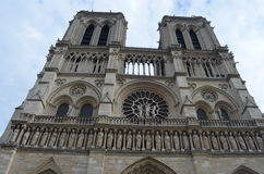 The Notre Dame Cathedral. On the Cite island Royalty Free Stock Photography